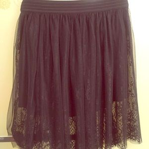 Lacey Black Tulle Skirt